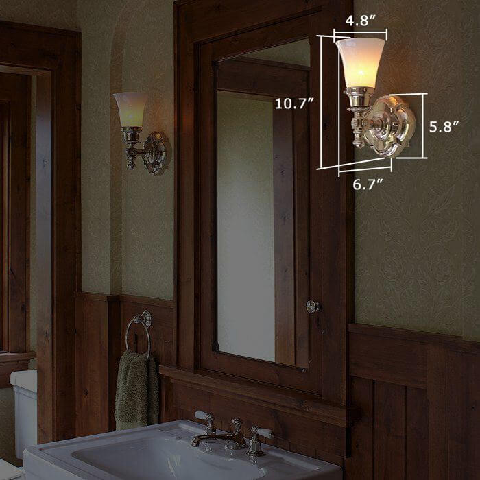 Montclair™ One Light Straight Arm Sconce with 2-1/4 in. shade holder