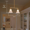 Shoreland™ Two Light Hotel Pendant with 2-1/4 in. shade holders down