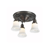 Galena Three Light Flush Living Room Ceiling Fixture with 2-1/4 in. shade holders