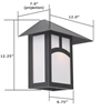 Pine Lake Lantern™ 12 in. Patio Wall Light