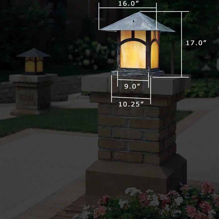 Pine Lake™ Lantern 16 in. Wide Exterior Pier Light