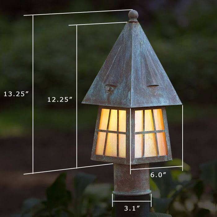 European Country™ Lantern 6 in. Wide Exterior Post Light
