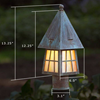 European Country™ Lantern 6 in. Garden Post Light