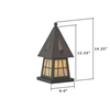 European Country Lantern™ 6 in. Driveway Pier Light