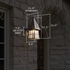 European Country™ Lantern 8 in. Hotel Patio Sconce