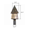 European Country Lantern™ 8 in. Driveway Post Light