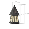 European Country Lantern™ 8 in. Driveway Pier Light
