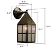 Carriage Lantern™ 6 in. Exterior Garage Light