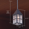 Carriage™ Lantern 7 in. Wide Solid Stem Outdoor Pendant Light