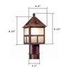 Cottage Lantern™ 6 in. Driveway Post Light