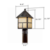 Cottage Lantern™ 8 in. Driveway Post Light