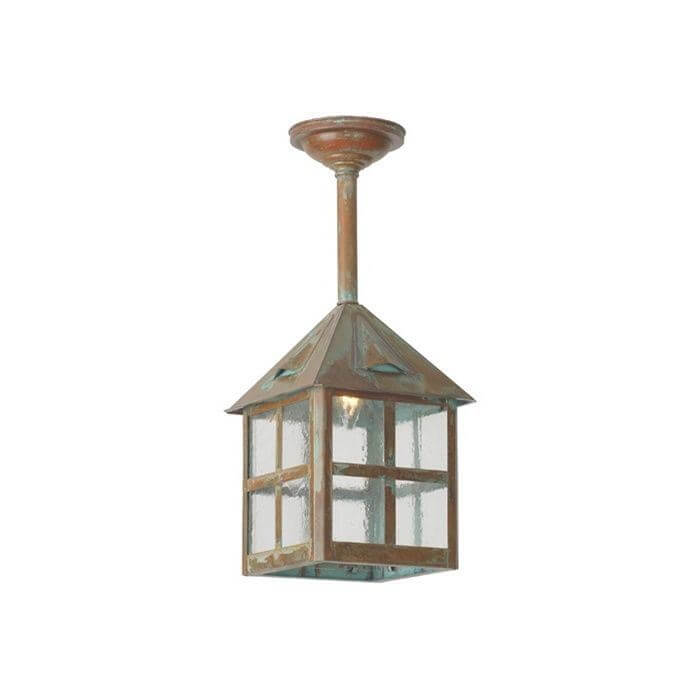Cottage Lantern™ 10 in. Wide Solid Stem Exterior Pendant Light