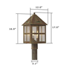 Cottage Lantern™ 12 in. Driveway Post Light