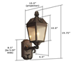 French Country Lantern™ 6 in. Metal Wall Light