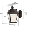 French Country™ Lantern 9 in. Clear Seeded Glass Wall Light
