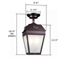 French Country Lantern™ 9 in. Interior Pendant Light