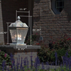 French Country™ Lantern 11 in. Waterfall Art Glass Panels Pier Light