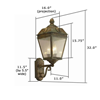 French Country Lantern™ 11 in. Patio Wall Light