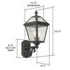 London Lantern™ 8 in. Traditional Wall Light