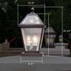 London™ Lantern 10 in. Wide Exterior Patio Pier Light
