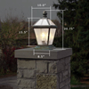 London™ Lantern 10 in. Wide Exterior Garden Pillar Light