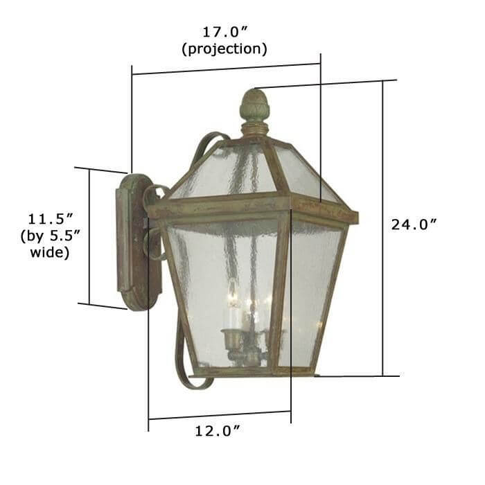 London Lantern™ 12 in. Wide Scrolled Arm Exterior Wall Light
