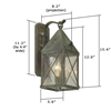Lancaster™ Lantern 6 in. Verdigris Patina Wall Light