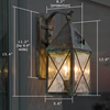 Lancaster™ Lantern 6 in. Porch Wall Light