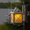 Stonehaven™ Lantern 8 in. Wide Scrolled Hook Exterior Wall Light