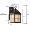 Stonehaven™ Lantern 8 in. Exterior Wall Light