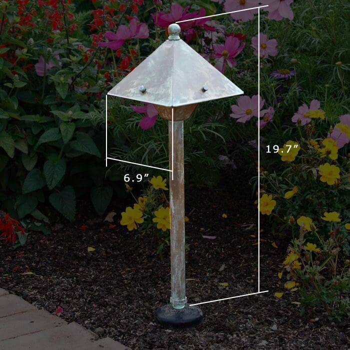 Market 6 in. Wide Path Light Line Voltage Standard Height