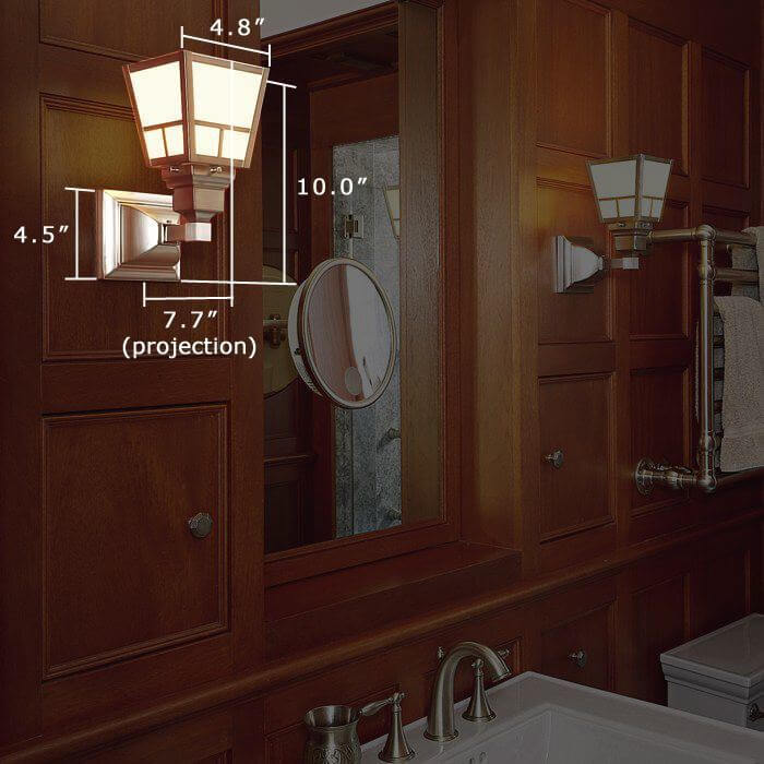 Oak Park™ One Light Straight Arm Sconce with 2-1/4 in. shade holder