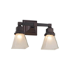 Oak Park™ Two Light Straight Arm Bedroom Wall Sconce