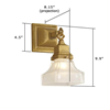 Oak Park™ One Light Chain Link Conference Room Wall Sconce with 2-1/4 in. shade holder