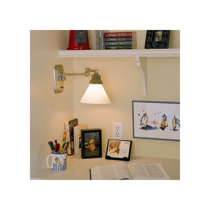 Highland Park One Light Swing Arm Sconce with 2-1/4 in. shade holder