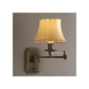 Highland Park One Light Swing Arm Hotel Hallway Wall Sconce with electric candle