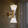Oak Park™ Two Light Linear Foyer Sconce with 2-1/4 in. shade holders