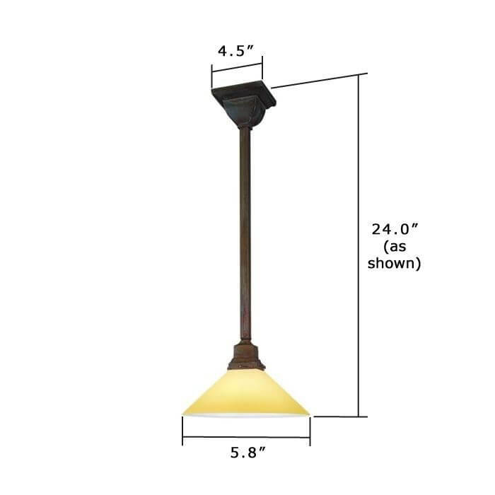 Oak Park One Light Pendant with 2-1/4 in. shade holder
