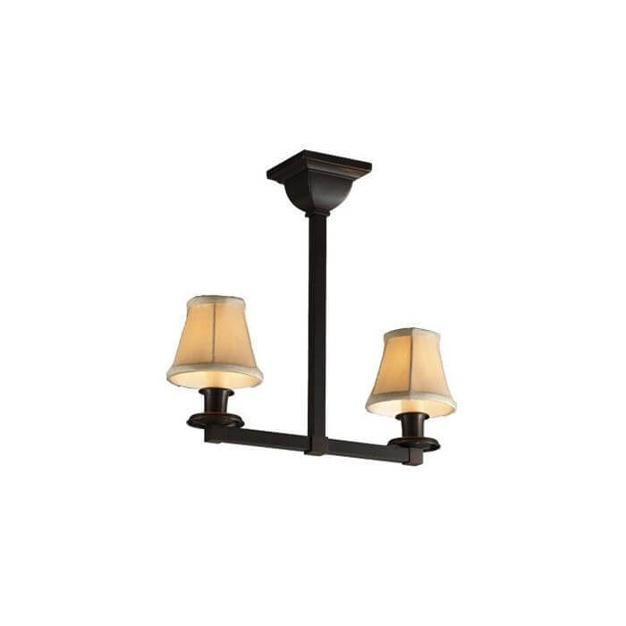Oak Park™ Two Light Pendant with electric candles