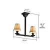 Oak Park™ Two light pendant fixture for homes