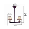 Oak Park™ Two Light Pendant for living rooms