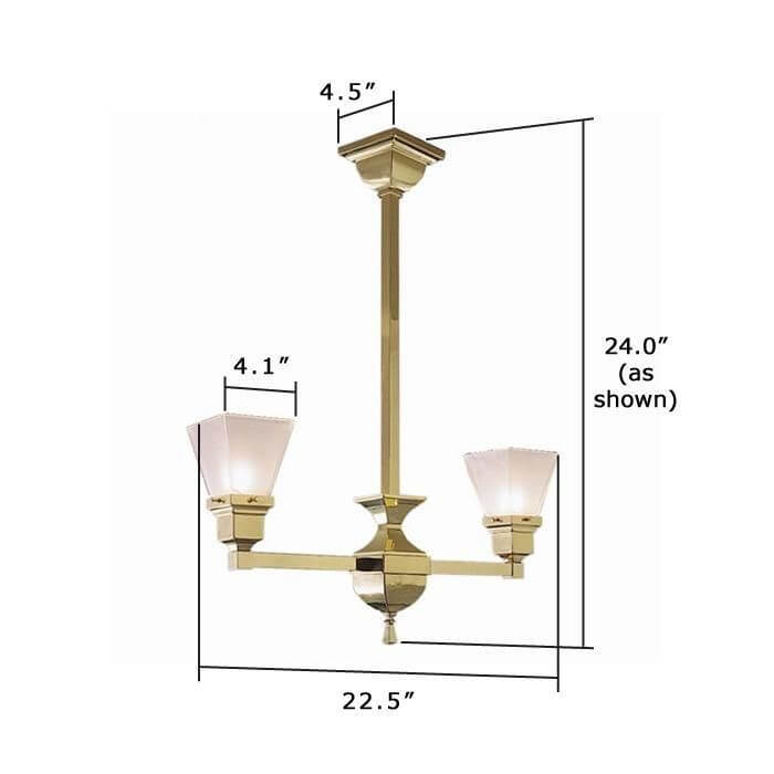 Oak Park™ Two Light Chandelier with 2-1/4 in. shade holders up