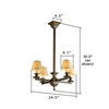 Oak Park™ electric chandelier fixture