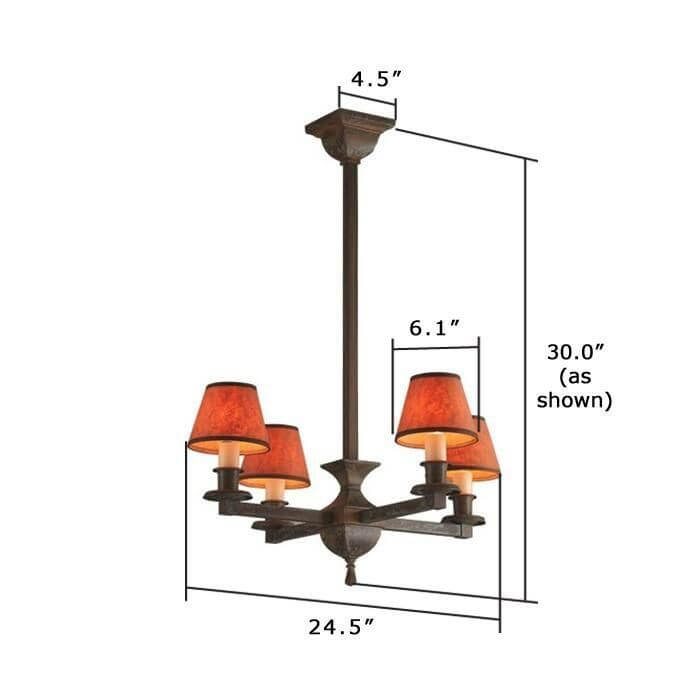 Oak Park™ Four Light Chandelier with electric candles