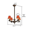 Oak Park™ craftsman style electric chandelier fixture