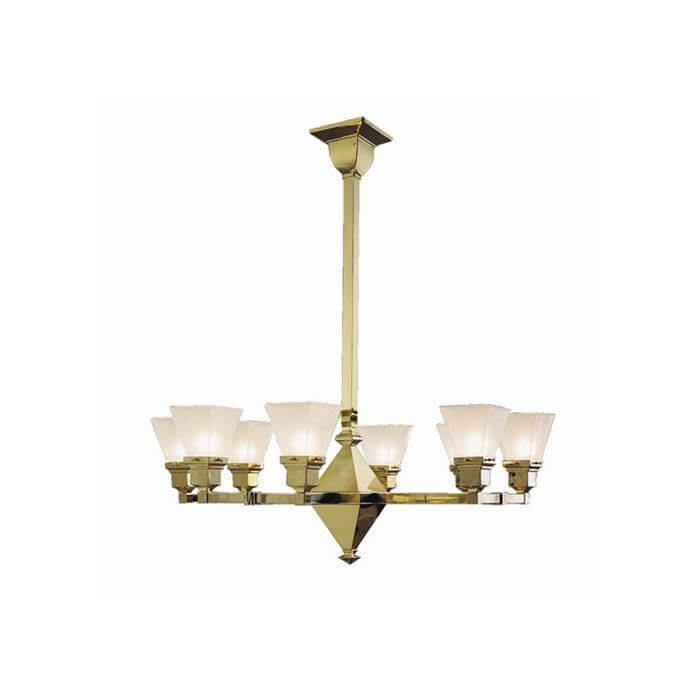 Golden Gate™ Eight Light Chandelier with 2-1/4 in. shade holders up