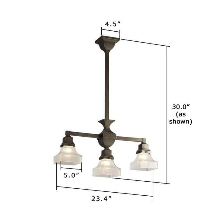 Oak Park™ Three Light Chandelier with 2-1/4 in. shade holders