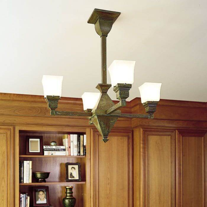 Golden Gate™ Four Light Chandelier with 2-1/4 in. shade holders up