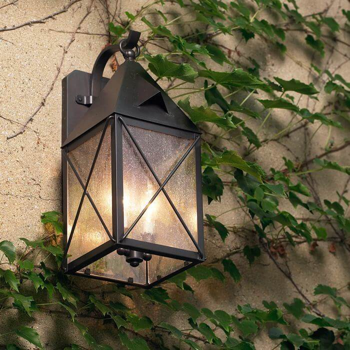 Lancaster™ Lantern 6 in. Wide Scrolled Hook Exterior Wall Light