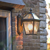 London™ Lantern 8 in. Wide Curved Arm Patio Wall Lighting